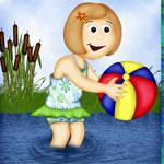 Maedchen mit Wasserball